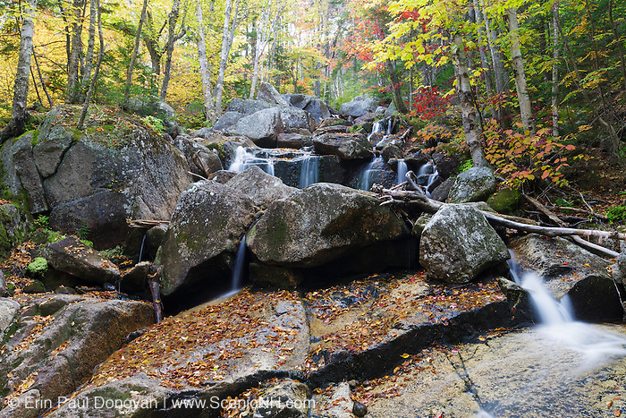 Whitewall Brook in Bethlehem, New Hampshire USA on an autumn morning.