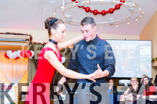 Denise Shanahan and David Kerins at the St. Pats Blennerville Strictly come Dancing fundraiser at Ballyroe Heights Hotel on Friday
