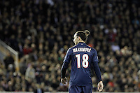 Paris Saint-Germain's Zlatan Ibrahimovic during Champions League 2012/2013 match.February 12,2013. (ALTERPHOTOS/Acero)