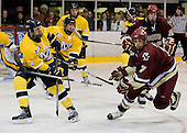 Stephane Da Costa (Merrimack - 24), Carl Sneep (BC - 7) - The Merrimack College Warriors defeated the Boston College Eagles 5-3 on Sunday, November 1, 2009, at Lawler Arena in North Andover, Massachusetts splitting the weekend series.