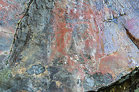Hawaiian pictographs, Maliko Gulch, Maui