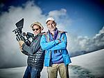 Les Diablerets le 25 juin 2017Film Docu fiction sur le r&eacute;chauffement climatique et l'histoire du glacier de Gietroz, avec a la r&eacute;alisation Michael Rouzeau ( Chapeau, Christian Berrut Casquette, et Jean Emile Fellay un des acteurs du Film<br /> &copy; sedrik nemeth