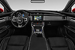 Stock photo of straight dashboard view of 2016 Jaguar XF R-Sport 4 Door Sedan Dashboard