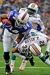 9 December 2007: Buffalo Bills tight end Robert Royal (84) receives a pass from Trent Edwards and runs to score the first of his two touchdowns against the Miami Dolphins at Ralph Wilson Stadium in Orchard Park, NY. The Bills defeated the Dolphins 38-17. ..Mandatory Photo Credit: Ed Wolfstein Photo