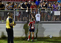 BOYDS, MD - JULY 20: Washington Spirit forward Mallory Mal Pugh (11) signs autographs for fans after the National Women's Soccer League (NWSL) game between the Houston Dash and Washington Spirit July 20, 2019 at Maureen Hendricks Field at Maryland SoccerPlex in Boyds, MD. (Photo by Randy Litzinger/Icon Sportswire)