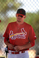 St. Louis Cardinals Austin Gomber (21) during a minor league spring training game against the New York Mets on April 1, 2015 at the Roger Dean Complex in Jupiter, Florida.  (Mike Janes/Four Seam Images)