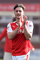 Fleetwood Town&rsquo;s Ben Davies applauds the fans<br /> <br /> Photographer Richard Martin-Roberts/CameraSport<br /> <br /> The EFL Sky Bet League One - Fleetwood Town v Millwall - Monday 17th April 2017 - Highbury Stadium - Fleetwood<br /> <br /> World Copyright &copy; 2017 CameraSport. All rights reserved. 43 Linden Ave. Countesthorpe. Leicester. England. LE8 5PG - Tel: +44 (0) 116 277 4147 - admin@camerasport.com - www.camerasport.com