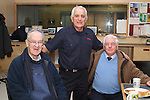 Oliver Flanagan with Retired Assistant County Fire Officer, Liam Malone and Retired Fireman Paddy Byrne  on retiring from the Fire Service in his 40th year in Service...(Photo credit should read Jenny Matthews www.newsfile.ie)....This Picture has been sent you under the conditions enclosed by:.Newsfile Ltd..The Studio,.Millmount Abbey,.Drogheda,.Co Meath..Ireland..Tel: +353(0)41-9871240.Fax: +353(0)41-9871260.GSM: +353(0)86-2500958.email: pictures@newsfile.ie.www.newsfile.ie.