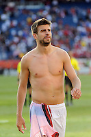 Gerard Pique (3) of Spain after the game. The men's national team of Spain (ESP) defeated the United States (USA) 4-0 during a International friendly at Gillette Stadium in Foxborough, MA, on June 04, 2011.