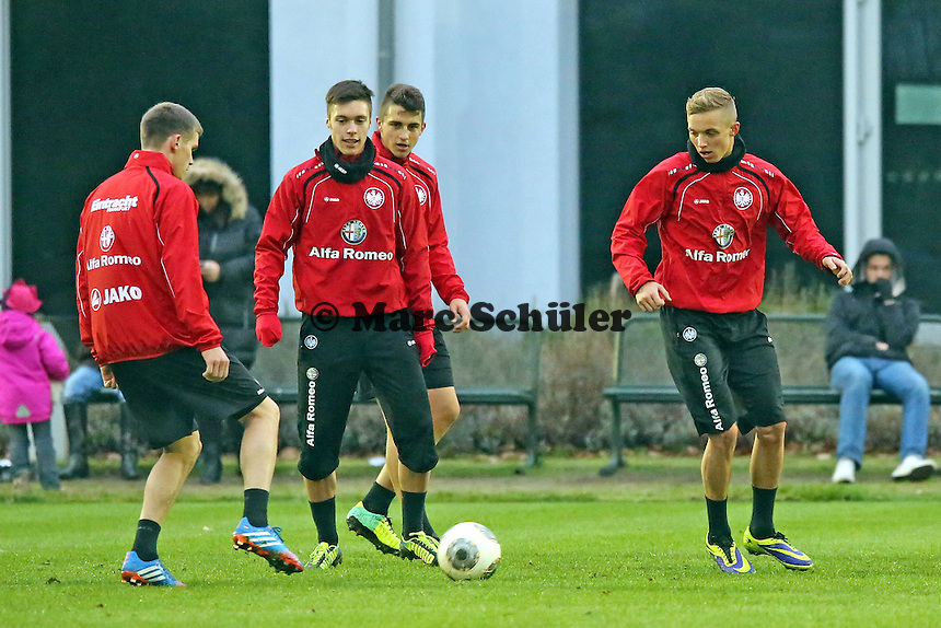 Sebastian Jung, Vaclav Kadler, Joselu, Sonny Kittel (Eintracht)