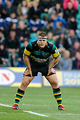 9th September 2017, Franklins Gardens, Northampton, England; Aviva Premiership Rugby, Northampton Saints versus Leicester Tigers; Paul Hill of Northampton Saints