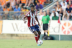 12 June 2013: Chivas USA's Oswaldo Minda (ECU). The North American Soccer League's Carolina RailHawks hosted Major League Soccer's CD Chivas USA at WakeMed Stadium in Cary, NC in a 2013 Lamar Hunt U.S. Open Cup fourth round game. Carolina won the game 3-1 after extra time.