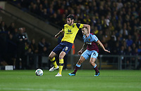 Oxford United's Elliott Moore and West Ham United's Jack Wilshere<br /> <br /> Photographer Rob Newell/CameraSport<br /> <br /> The Carabao Cup Third Round - Oxford United v West Ham United - Wednesday 25th September 2019 - Kassam Stadium - Oxford<br />  <br /> World Copyright © 2019 CameraSport. All rights reserved. 43 Linden Ave. Countesthorpe. Leicester. England. LE8 5PG - Tel: +44 (0) 116 277 4147 - admin@camerasport.com - www.camerasport.com