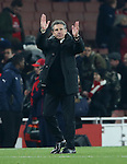 Southampton's Calude Puel applauds the fans at the final whistle during the EFL Cup match at the Emirates Stadium, London. Picture date October 30th, 2016 Pic David Klein/Sportimage