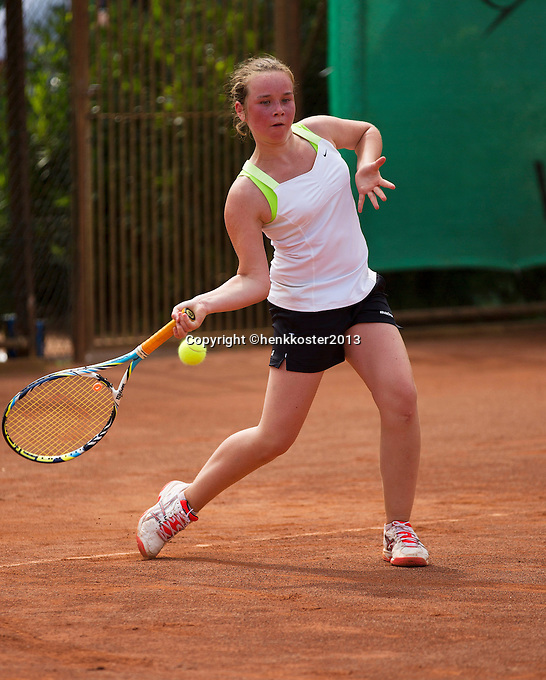 05-08-13, Netherlands, Dordrecht,  TV Desh, Tennis, NJK, National Junior Tennis Championships, Veerle Contant<br /> <br /> <br /> Photo: Henk Koster