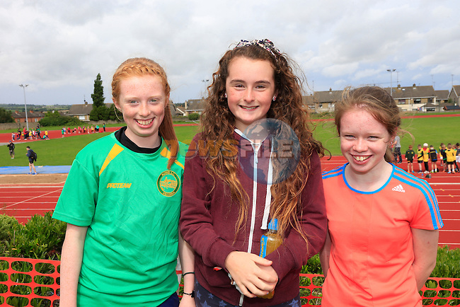 Moya McCabe Odette Flannery and Ciara Reilly at the Boyne Ac Sports Day.<br /> Picture: Fran Caffrey www.newsfile.ie