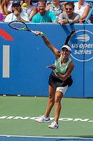 Washington, DC - August 4, 2019:  Jessica Pegula (USA) serves the ball during the Citi Open WTA Singles final at William H.G. FitzGerald Tennis Center in Washington, DC  August 4, 2019.  (Photo by Elliott Brown/Media Images International)
