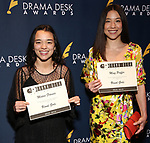 Midori Francis and Ming Peiffer during the 64th Annual Drama Desk Awards Nominee Reception at Green Room 42 on May 08, 2019 in New York City.