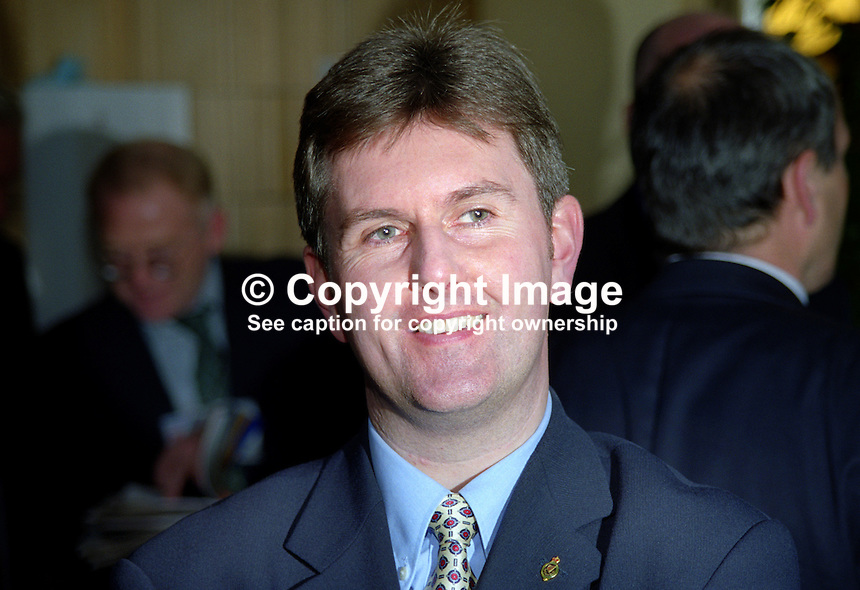 Jeffrey Donaldson, MP, Ulster Unionist, Lagan Valley, UK Parliament 199910058..Copyright Image from Victor Patterson, 54 Dorchester Park, Belfast, United Kingdom, UK. Tel: +44 28 90661296. Email: victorpatterson@me.com..For my Terms and Conditions of Use go to http://www.victorpatterson.com/Terms_%26_Conditions.html