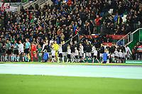 Deutsche Mannschaft läuft ein - 05.10.2017: Nordirland vs. Deutschland, WM-Qualifikation Spiel 9, Windsor Park Belfast