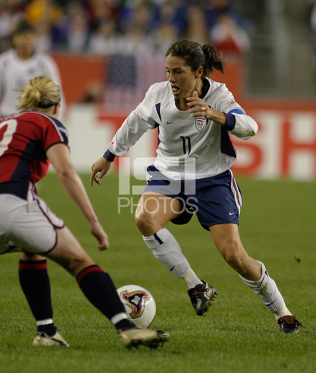 Julie Foudy, USA vs. Norway, in Boston, Ma, 2003 WWC.