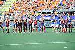 The Hague, Netherlands, June 12: Players of USA celebrate after Kelsey Kolojejchick #7 of USA scores during shoot-out during the field hockey semi-final match (Women) between USA and Australia on June 12, 2014 during the World Cup 2014 at Kyocera Stadium in The Hague, Netherlands. Final score after full time 2-2 (0-1). Score after shoot-out 1-3. (Photo by Dirk Markgraf / www.265-images.com) *** Local caption ***