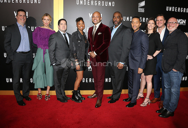 "WESTWOOD, CA - February 28: The cast & Crew of WGN America's 'Underground, At Premiere Of WGN America's ""Underground"" Season 2, At The Regency Village Theatre In California on February 28, 2017. Credit: Faye Sadou/MediaPunch"
