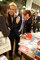 Jamie Laing and Francis Boulle at the book signing of Boulle's Jewels