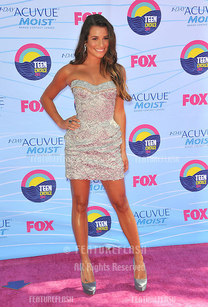 Glee star Lea Michele at the 2012 Teen Choice Awards at the Gibson Amphitheatre, Universal City..July 23, 2012  Los Angeles, CA.Picture: Paul Smith / Featureflash