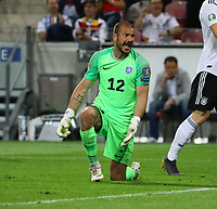 Torwart Sergei Lepmets (Estland, Estonia) regt sich nach dem 7:0 auf - 11.06.2019: Deutschland vs. Estland, OPEL Arena Mainz, EM-Qualifikation DISCLAIMER: DFB regulations prohibit any use of photographs as image sequences and/or quasi-video.