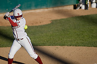 STANFORD, CA - February 26, 2011: Caitlyn Pura gets struck by a wild pitch during Stanford's 16-2 win over Colorado State at Stanford, California on February 26, 2011.