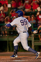 Nelson Perez (99) of the Daytona Cubs during a game vs. the Clearwater Threshers May 8 2010 at Jackie Robinson Ballpark in Daytona Beach, Florida. Daytona won the game against Clearwater by the score of 4-1.  Photo By Scott Jontes/Four Seam Images
