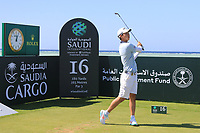 Min Woo Lee (AUS) the 16th tee during the Pro-Am of the Saudi International at the Royal Greens Golf and Country Club, King Abdullah Economic City, Saudi Arabia. 29/01/2020<br /> Picture: Golffile | Thos Caffrey<br /> <br /> <br /> All photo usage must carry mandatory copyright credit (© Golffile | Thos Caffrey)