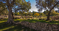Fine Art Landscape and Travel Photograph of Olympia, in Katakolon, Greece. is known for having been the site of the Olympic Games in classical times.