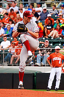 AUSTIN, TEXAS-March 4, 2011:  Starter Mark Appel of Stanford prepares to deliver a pitch during the game against the Texas Longhorns, at Disch-Falk field in Austin, Texas. Texas defeated Stanford 4-3.