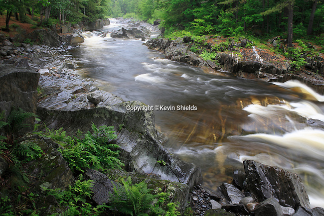 Early Summer view of the Swift River flowing through Coos Canyon, Byron, Maine, USA