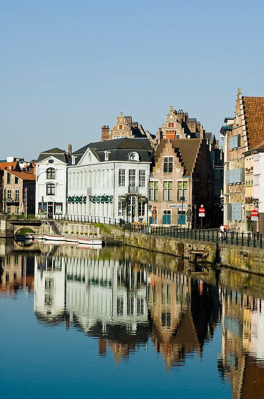Belgium, Ghent, Ghent canal houses