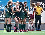 ALMERE - Hockey - Overgangsklasse competitie dames ALMERE- ROTTERDAM (0-0) . Rotterdam heeft gescoord maar het doelpunt wordt afgekeurd.   COPYRIGHT KOEN SUYK