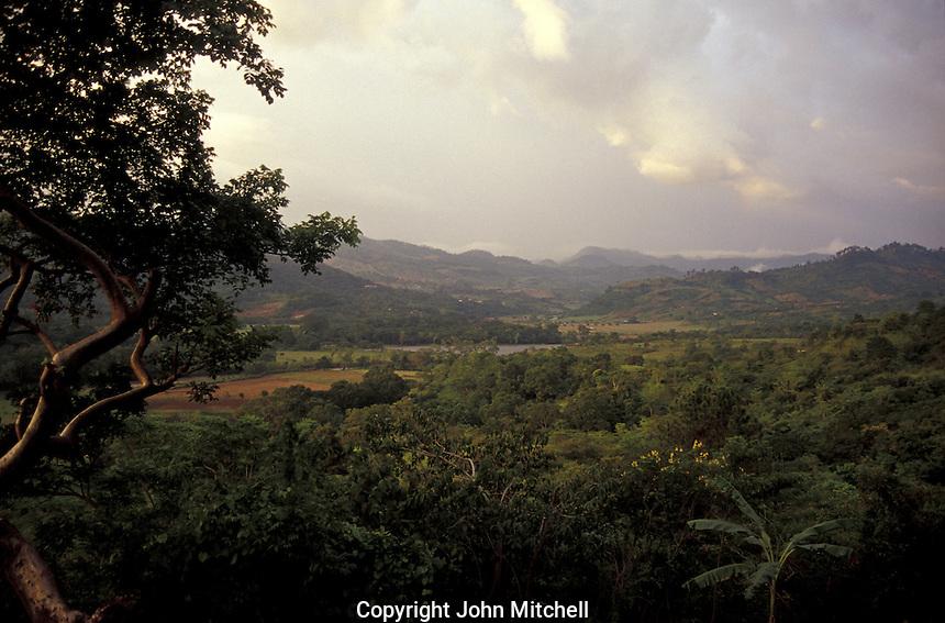 The Copan River Valley in Western Honduras