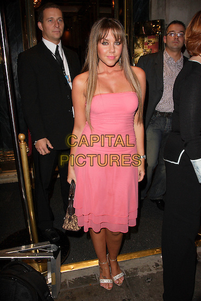 MICHELLE SCOTT-LEE .Launch Party for Sue Moxley and Cheryl Carter Make Up range at Paper Nightclub, Regent Street, London, England. .November 1st 2007.full length black heaton pink dress .CAP/ROS.©Steve Ross/Capital Pictures
