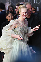 Elle Fanning attends the European Premiere of Maleficent: Mistress of Evil at the BFI IMAX Waterloo in London.<br /> <br /> OCTOBER 9th 2019<br /> <br /> REF: RHD 193636 Credit: Matrix/MediaPunch ***FOR USA ONLY****