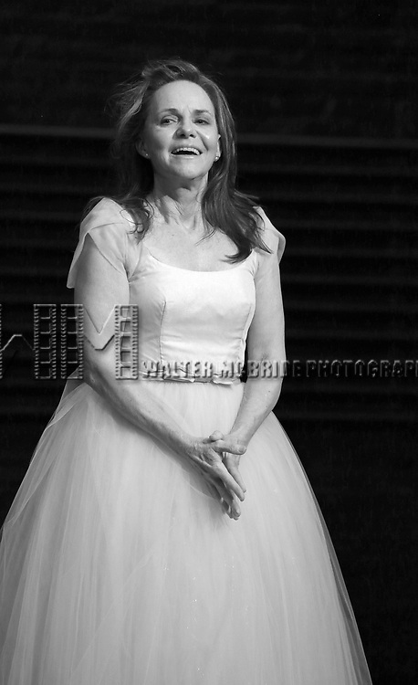 "Sally Field during the Broadway Opening Night Performance Curtain Call Bows for ""The Glass Menagerie'"" at the Belasco Theatre on March 9, 2017 in New York City."