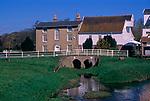 A911Y7 Former water mill buildings River Deben Wickham Market Suffolk England