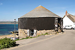 The Round House and Capstan gallery, Sennen Cove, Cornwall, England, UK