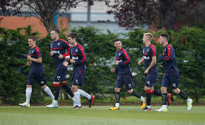 Myles Beerman, Danny Wilson, Ryan Hardie, Jason Holt, Ross McCrorie and Jordan Thompson