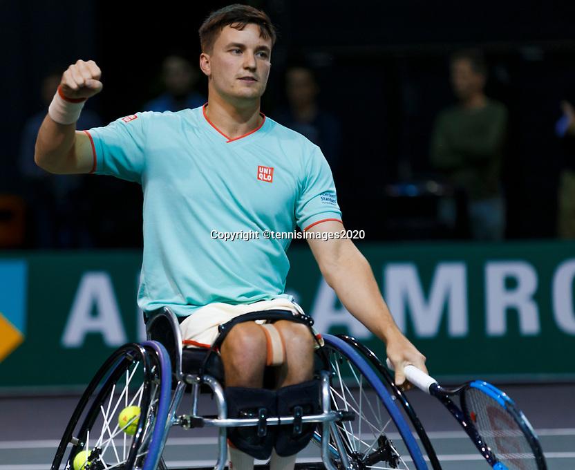 Rotterdam, The Netherlands, 14 Februari 2020, ABNAMRO World Tennis Tournament, Ahoy,   Wheelchair: Gordon Reid (GBR). <br /> Photo: www.tennisimages.com