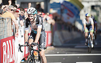 Pieter Serry (BEL/Etixx-Quickstep) was involved in a crash on the local laps of Genova.<br /> Eventually he would finish the race but was forced to abandon the Giro as his right shoulder ligaments were torn.<br /> <br /> 2015 Giro<br /> stage 2: Albenga - Genova (177km)