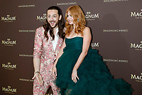 Riccardo Simonetti and Palina Rojinski attending the 'Magnum x Rita Ora' Party during the 72nd Cannes Film Festival on May 16, 2019 in Cannes, France