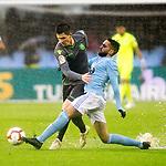 Real Sociedad's Igor Zubeldia  and Celta de Vigo's Okay Yokuslu during La Liga match. April, 8th,2019. (ALTERPHOTOS/Alconada)