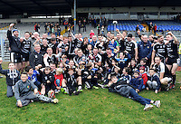 30-11-2014: The Ardfert team fro County Kerry celebrate their victory over Valley Rovers in the Munster GAA Club Intermediate Football final in Killarney on Saturday.<br /> Picture by Don MacMonagle XXJOB